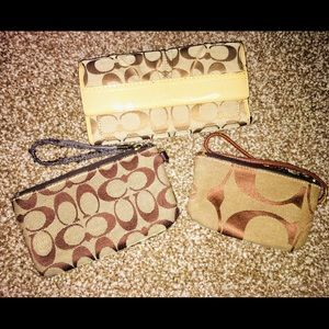 Coach Wallet and Wristlets/ 3•piece